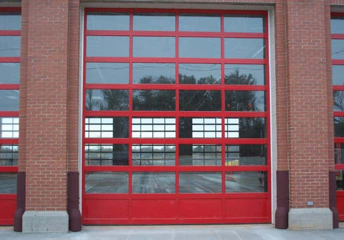 Fire House Garage Doors Powder Coated