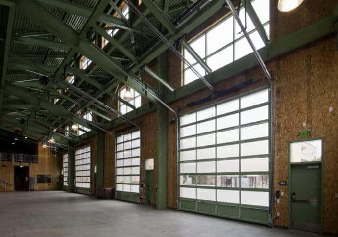 Garage Doors Commercial Full View Aluminum