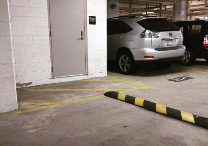 Garage Door Parking Speed Bump