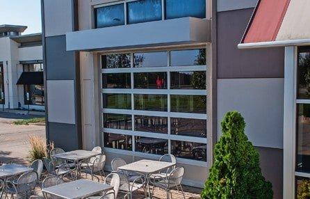 Garage Doors Restaurant Aluminum Full-View
