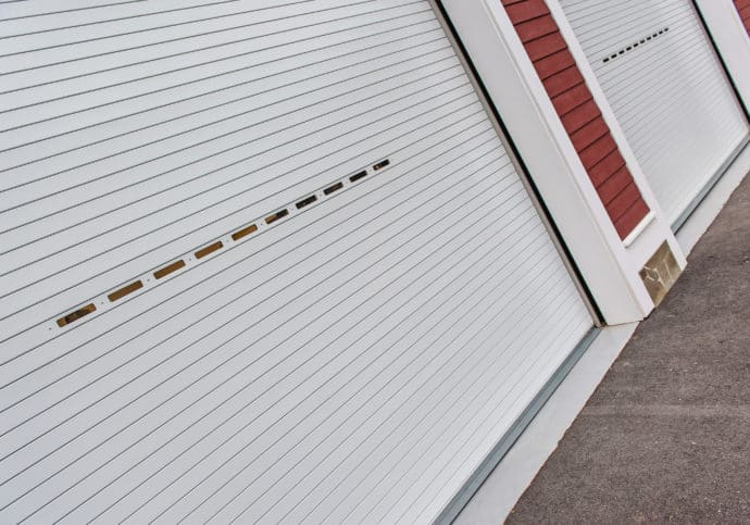 Garage Door Commercial Rolling Steel Overhead Doors with Windows