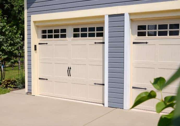 Garage Door Coach House in Almond
