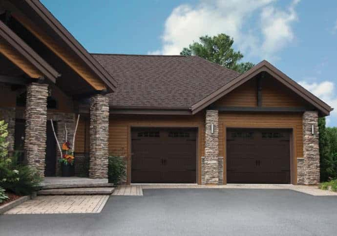 Garage Doors Coach House in Brown
