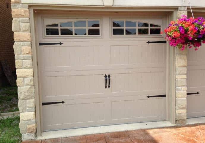 Garage Doors Coach House with Decorative Hardware