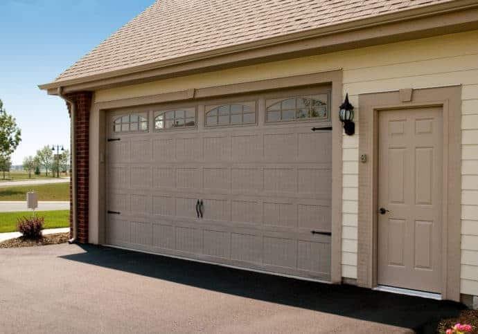 Garage Door Coach House in Sandstone