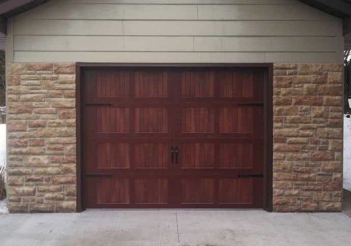 Garage Door Wood Tone Coach House