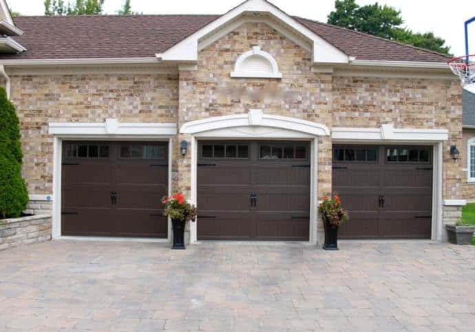 Garage Door Coach House in Brown