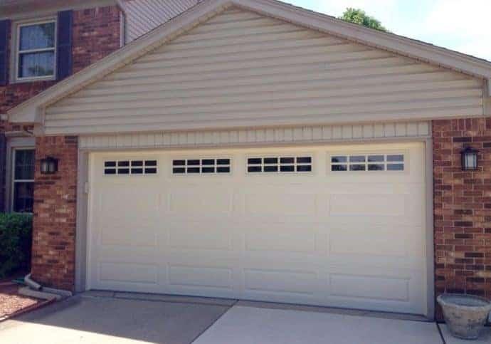 Garage Door Long Panel in Almond