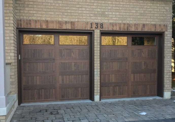 Garage Door Wood Tone Coach House
