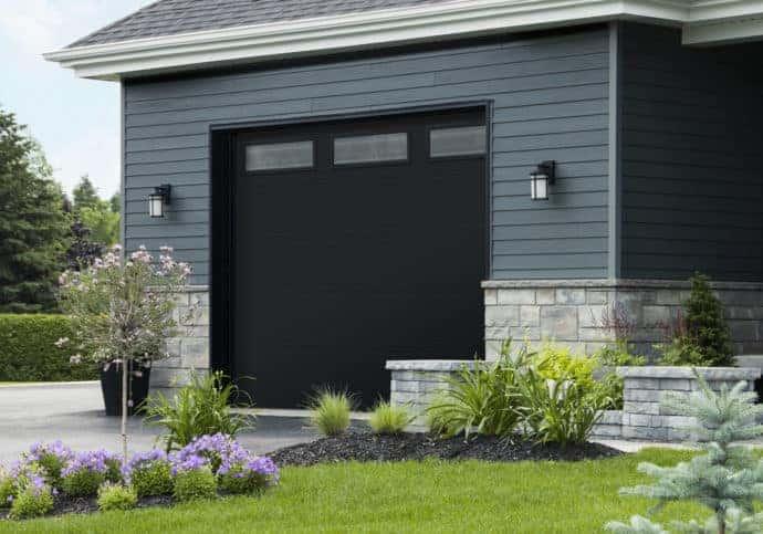 Garage Door Flush with Top Windows