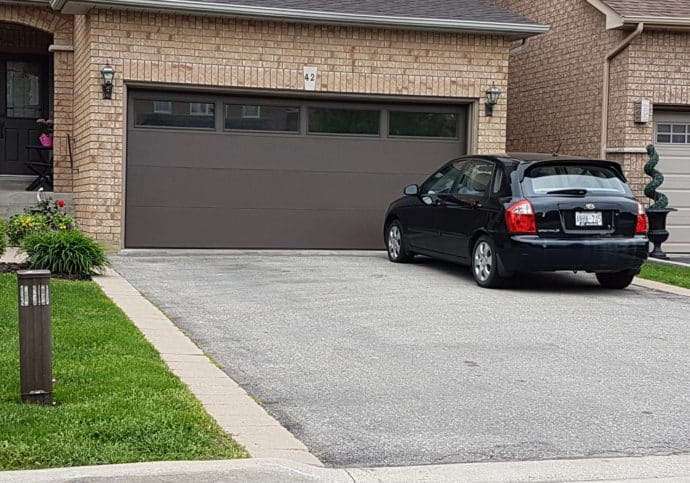 Garage Door Flush with Plain Top Windows
