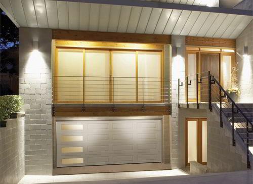 Garage Door Flush with Side Windows