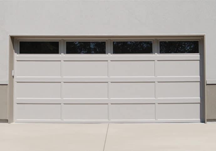 Garage Door Modern Recessed Panel