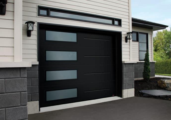 Garage Door Garaga Vog Door With Frosted Windows