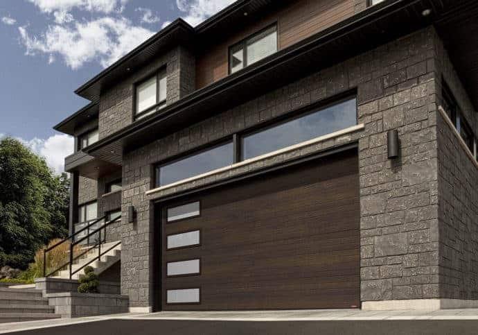 Garage Door Modern Door With Frosted Windows