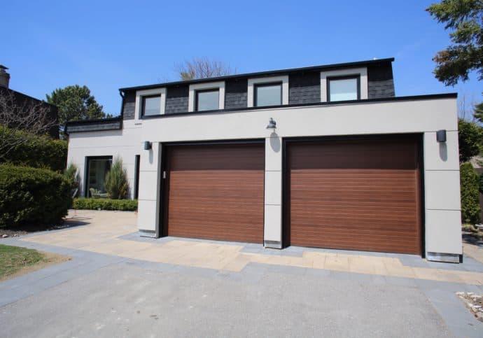 Garage Door Modern Door Wood Look