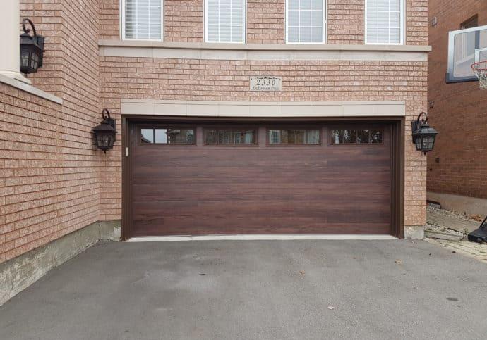 Garage Door Modern Wood Look