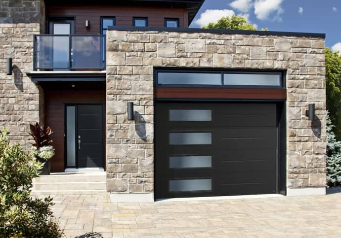 Garage Doors Garaga Vog with Frosted Windows