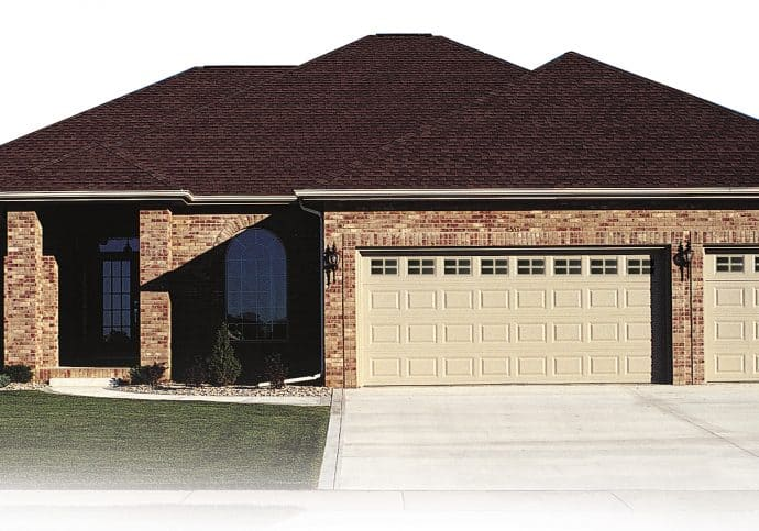 T6 Traditional Garage Doors - Short Panel Garage Door