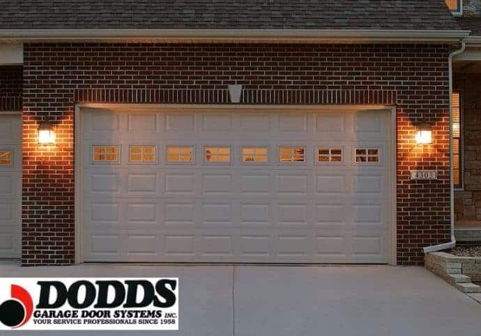 Garage Doors Traditional Short Panel With Windows in White
