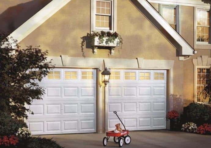 T5 Traditional Garage Doors - Short Panel In White