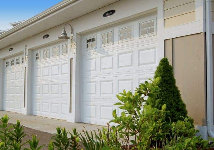 Garage Door Traditional Short Panel with Windows