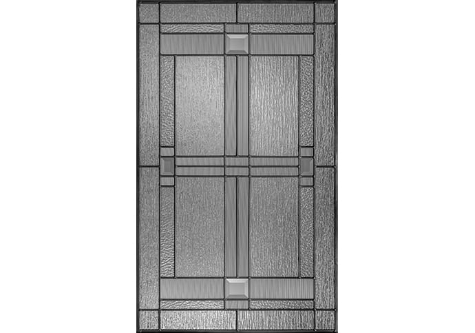 Glass options for garage door