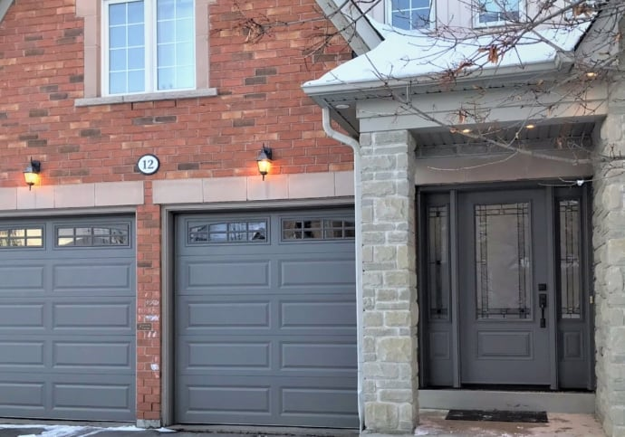 Bronze Front Door Match Garage Doors