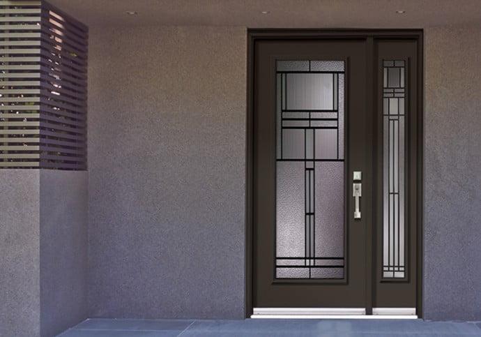 Dodds Steel Front Doors - Full Lite with Sidelite