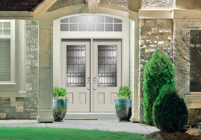 Dodds Steel Front Doors - Double with Transom