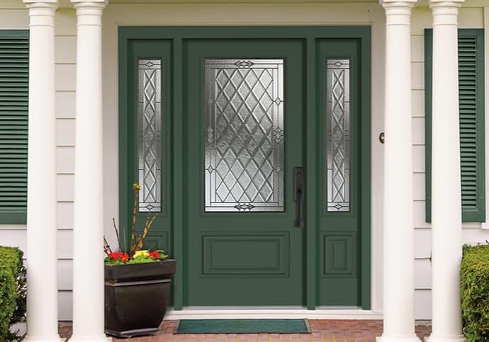Dodds Steel Front Doors - Traditional Green