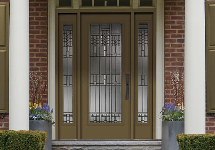 Dodds Steel Front Doors - Full Glass Two Sidelites