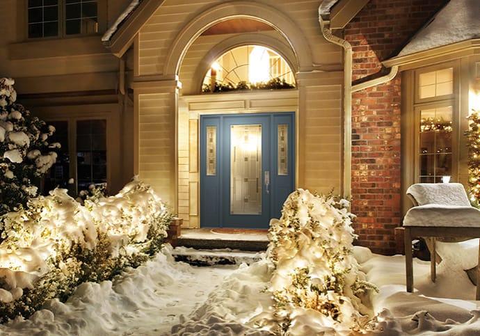 Dodds Steel Front Doors - Blue Two Sidelites