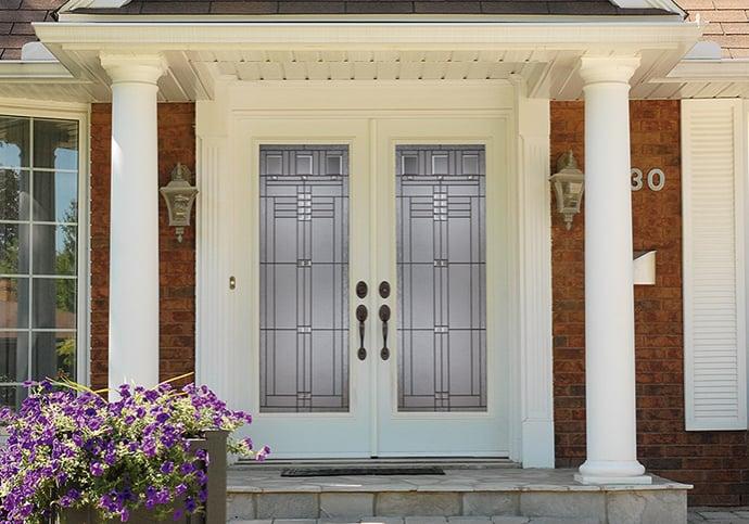 Dodds Steel Front Doors - White Double Door