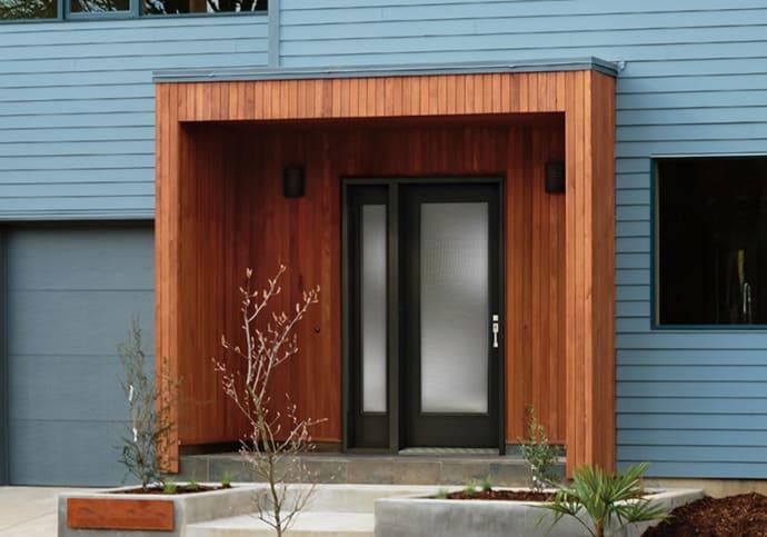 Dodds Steel Front Doors - Contemporary Black