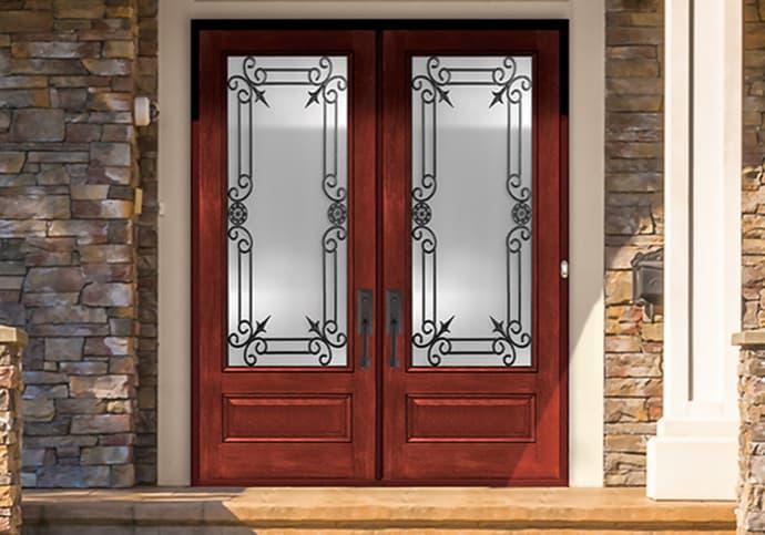 Fiberglass Front Door Double Front Door
