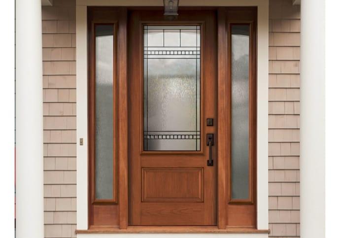 Fiberglass Front Door Single with Sidelites front door