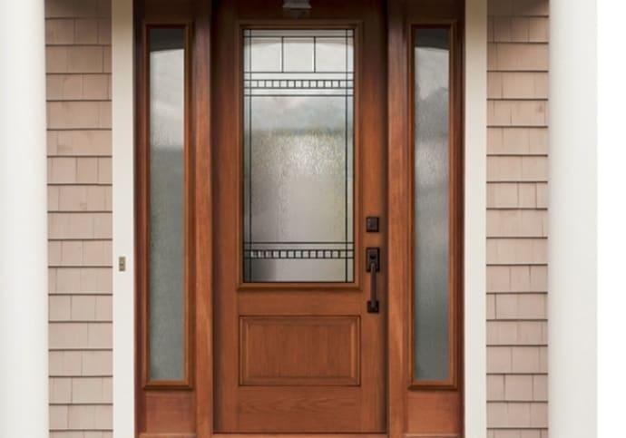 Fiberglass Front Door Single with Sidelites