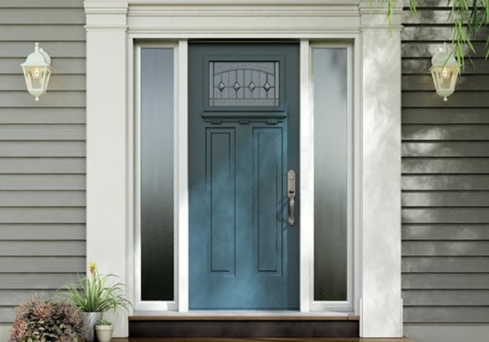 Blue Craftsman Front Door