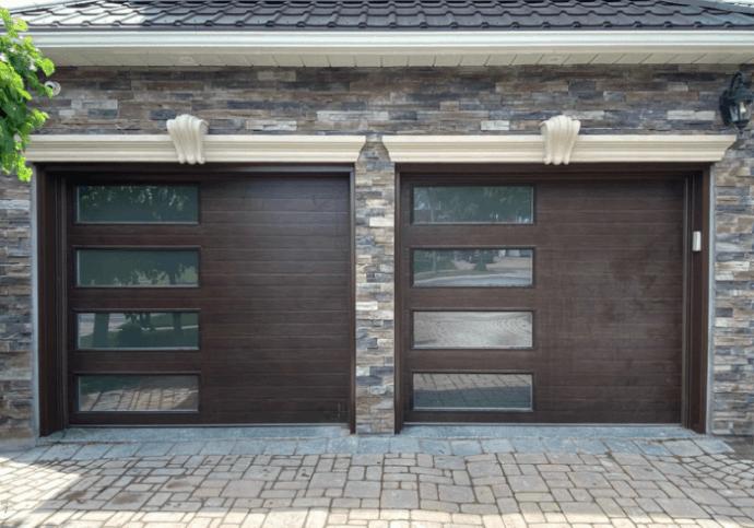 Canadian Brown Garage Door